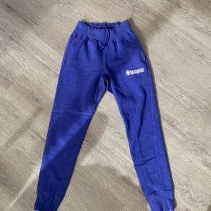 Purple Champion jogger sweatpants